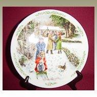 Royal Doulton Christmas 1992 'Going to Church' Collector Plate