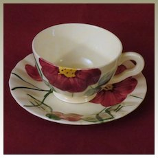 Southern Potteries Blue Ridge Becky Cup and Saucer