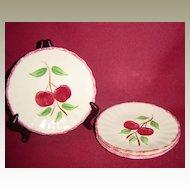 Southern Potteries Blue Ridge Crabapple Bread Plates