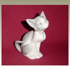 Lladro Feed Me Cat Figurine