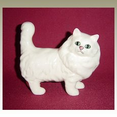 Royal Doulton Persian Cat Standing with Tail Erect from Beswick