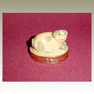 Estee Lauder Imperial Dog Solid Perfume Compact