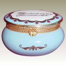 Estee Lauder 'Where Hearts Are True' Enamel Over Porcelain Keepsake trinket Box