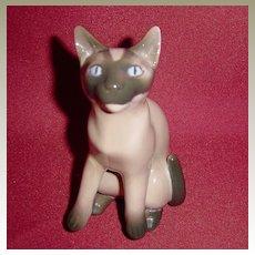 Bing and Grondahl Siamese Sitting Porcelain Cat Figurine #2308
