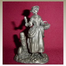The Lavender Girl from Franklin Mint Street Seller of Old London Town