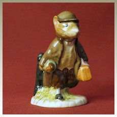 Rare Beswick Beatrix Potter Johnny Town-mouse with Bag Figurine