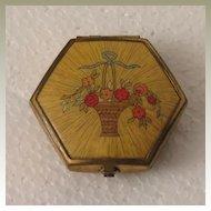 Houbigant Flower Basket Compact c 1930s
