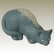 Franklin Mint Parian Curio Cabinet Cat
