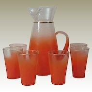 West Virginia Blendo Glass Juice Set