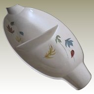 Franciscan Autumn Leaves Divided Vegetable Bowl
