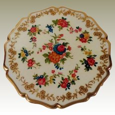 Stratton of England Floral Powder Compact