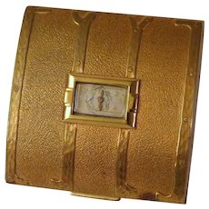 Evans Trunk Powder Compact with Clock