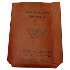 Western Union Messenger's Kit c. 1937-38