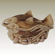 Harmony Kingdom Large Treasure Jest Fish Box Figurine Journey Home