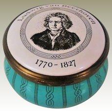 Bilston and Battersea Ludwig van Beethoven Enamel Box for Cartier