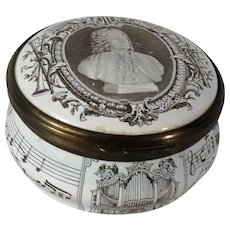 Bilston and Battersea Bach Enamel Box for Cartier