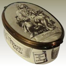 Bilston and Batterson Handel Enamel Box for Cartier