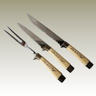 Regent Sheffield Desert Flower Cutlery Carving Set