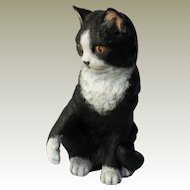 "Franklin Porcelain Eric Tenney ""Temptation"" Black and White Cat Figurine"