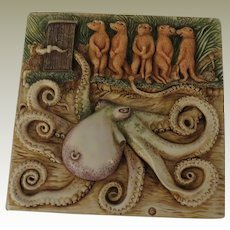 Harmony Kingdom Noah's Park Tilt-A-Whirl Picturesque Tile Figurine with Octopus