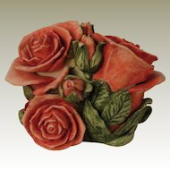 Harmony Kingdom Double Pink Rose Box Figurine