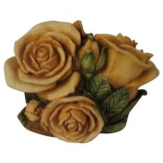 Signed Harmony Kingdom Double Yellow Rose Limited Edition Box Figurine