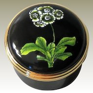 Halcyon Days Enamel Box White Flowers Designed By Sybil Connolly for Tiffany & Co