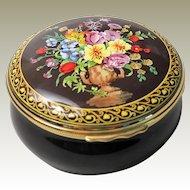 Halcyon Days Dutch Old Master Extra Large Round Enamel Box