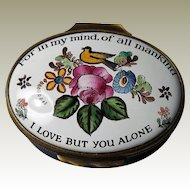Halcyon Days Enamel Box For In My Mind