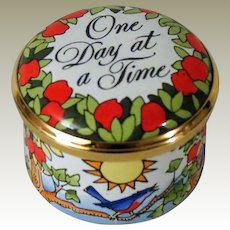 Halcyon Days Enamel Box One Day At A Time Designed By Tiffany & Co