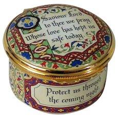 Halcyon Days Enamel Box Prayer Saviour Lord to Thee We Pray