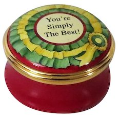 Halcyon Days You're Simply the Best Small Enamel Box