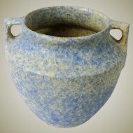 Burley Winter Jardiniere Blue over White Vellum Glaze Art Pottery #43