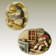 Harmony Kingdom Murphy Pin and Lord Byron QVC Pin