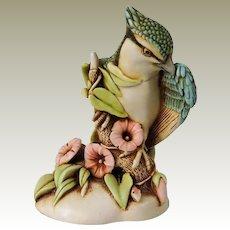 Harmony Kingdom Caw Of The Wild Small Treasure Jest Box Figurine with Blue Jay