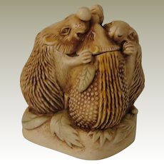 Harmony Kingdom Close Shave Small Treasure Jest Box Figurine with Hedgehogs