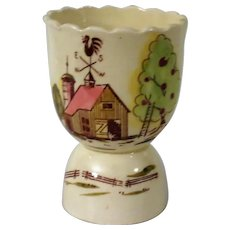 Tilso Barn Scene Double Egg Cup with Rooster Weather Vane from Japan