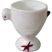 Westmoreland Glass Baby Chicken Pedestal Egg Cup c 1940