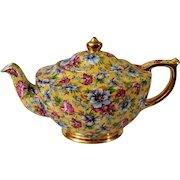 Gorgeous James Sadler Sophie Chintz Yellow Teapot Made in England