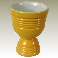 Vintage Hankscraft Yellow Double Egg Cup Go Along for Fiesta