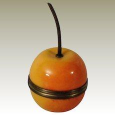 Halcyon Days Yellow Apple Bonbonniere Enamel Box