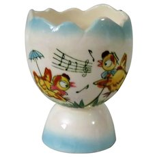 Singing Chickens Double Egg Cup from Japan - Red Tag Sale Item