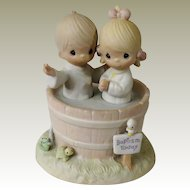 Jonathan & David Precious Moments Let the Whole World Know Baptism Today Figurine