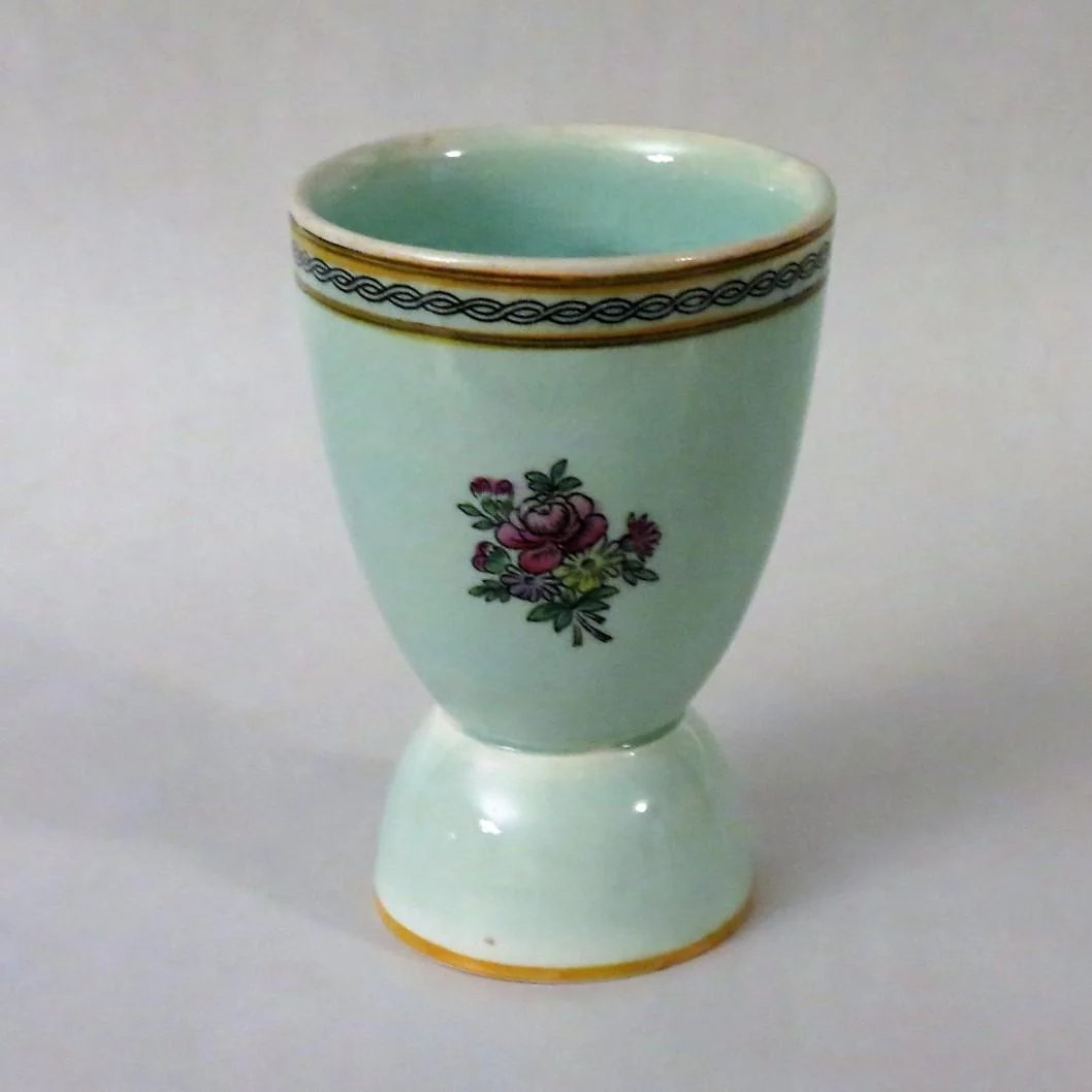 Adams China Double Egg Cup Calyx Ware Alley Cat Lane