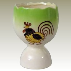 Double Egg Cup with Rooster from Japan