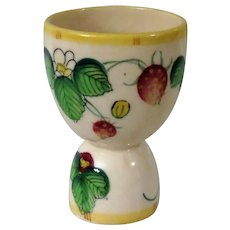 Vintage Double Egg Cup with Strawberry Motif from Japan