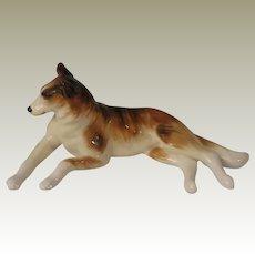 Vintage Smooth Coated Collie Dog Bone China Figurine