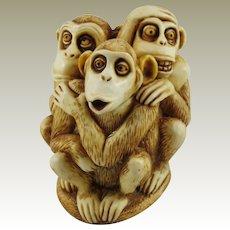Harmony Kingdom Inside Joke Treasure Jest Box Figurine with Monkeys