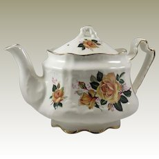 Arthur Wood Donegal Yellow Roses English Teapot