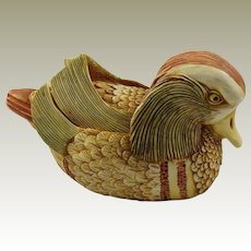 Harmony Kingdom Drake's Fancy Mandarin Duck Large Treasure Jest Box Figurine